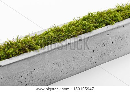 Stylish piece of furniture - pot of fiber-reinforced concrete