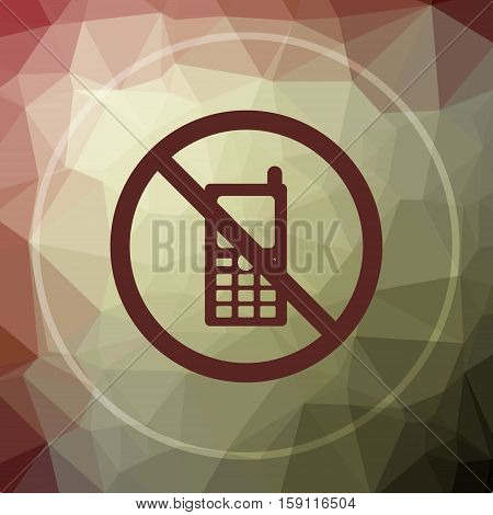 Mobile Phone Restricted Icon