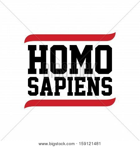 black red text homo sapiens theme vector art illustration