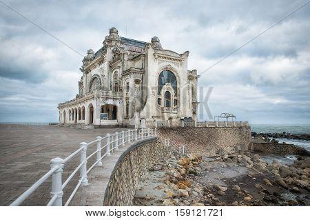 picture of the old casino in constanta, romania
