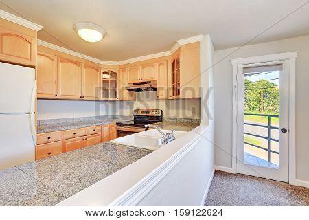 Interior Of Nice U-shaped Kitchen Room