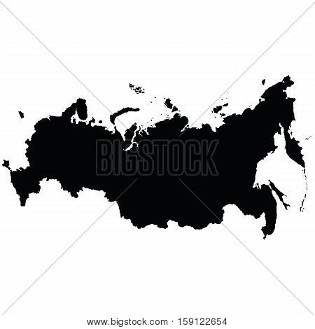 The map of the Russian Federation high resolution with the Crimea. Vector illustration.