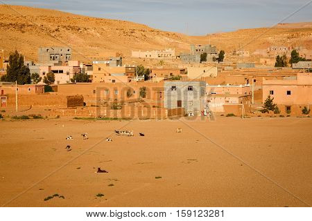 Village Of Ait Ben Haddou In Morocco