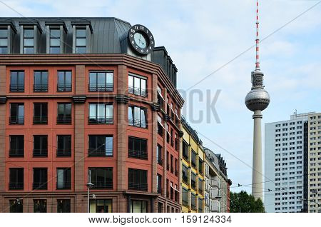 Berlin rental Appartments City Houses with TV Tower Old and New Buildings