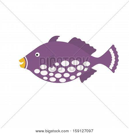 Clown Tiggerfish, exotic fish tropical marine fish. vector