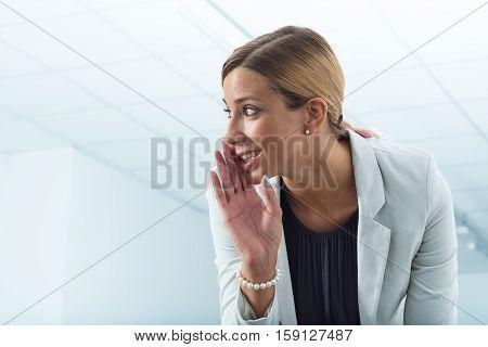 Office Worker Revealing Secrets