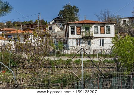 Old house in village of Maries, Thassos island, East Macedonia and Thrace, Greece