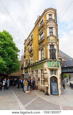 Pub The Blackfriar In London, Uk