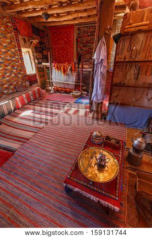 Traditional Berber Room In The Fortress Of Ait Ben Haddou