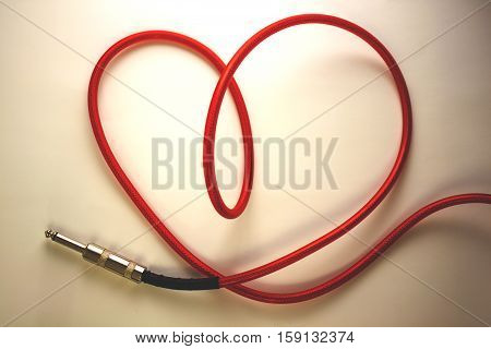The heart of the red cable.Screensaver for music store.