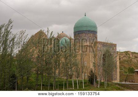 Entrance Gate In Shah-i-zinda Memorial Complex, Necropolis In Samarkand, Uzbekistan.