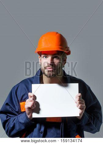 Surprised Man Keeps Blank Paper