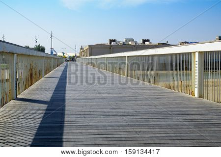 Wauchope Bridge Over The Yarkon Stream, In Tel-aviv