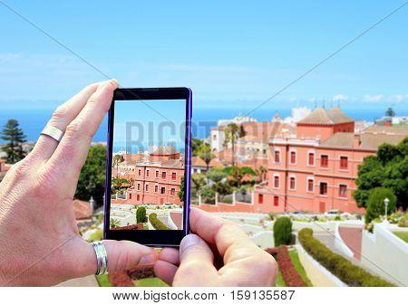 Taking A Landscape Photo