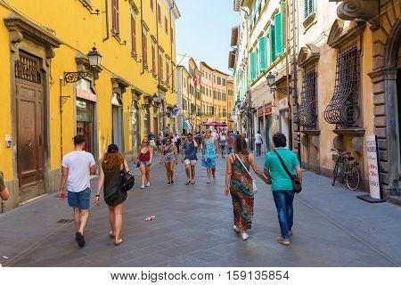 Corso Italia In Pisa, Italy