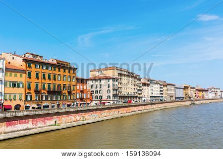 View Of Pisa With The River Arno