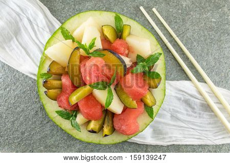 Fruit Salad In A Melon