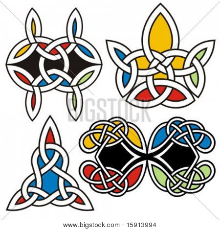 A set of 4 celtic ornamental designs.