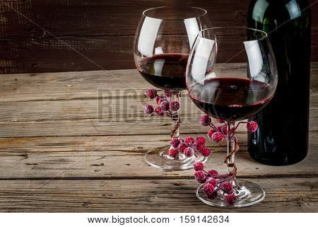 Bottle Of Wine And Glasses