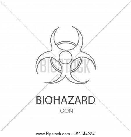 Biohazard vector Icon on a white background.