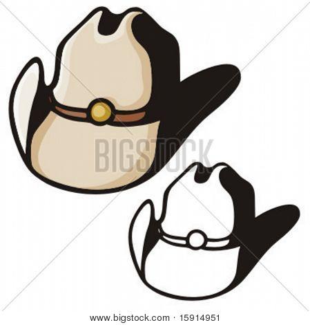 Illustration of a cowboy hat.