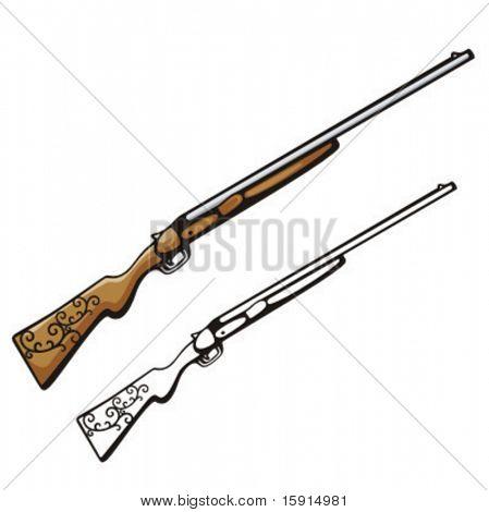 Illustration of a cowboy gun.