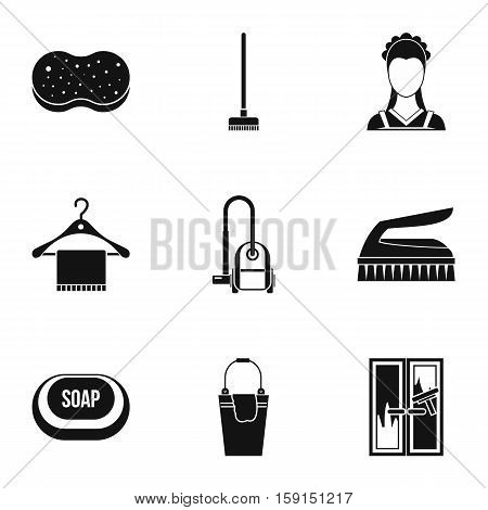 Sanitary day icons set. Simple illustration of 9 sanitary day vector icons for web