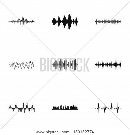 Music track icons set. Simple illustration of 9 music track vector icons for web