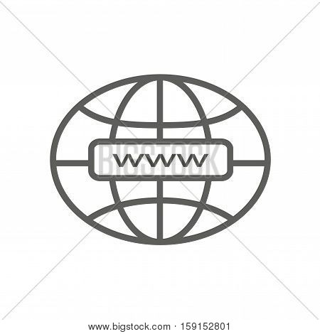 Address http web internet icon vector line