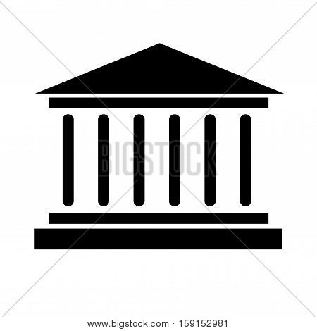 Bank icon vector Buisness money Building symbol