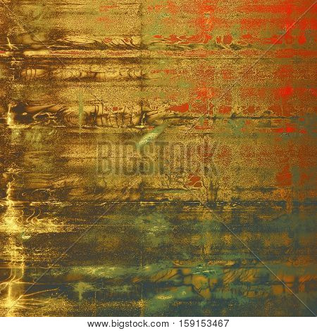 Retro texture, shabby and ragged background in grunge style. With different color patterns: yellow (beige); brown; gray; green; red (orange); black
