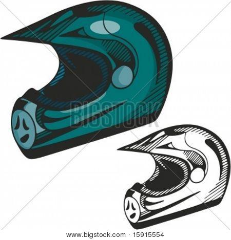Formula one helmet. Vector Illustration