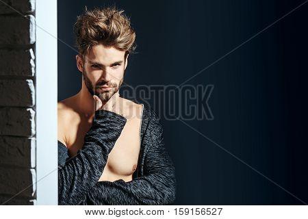 Sexy Muscular Bearded Man
