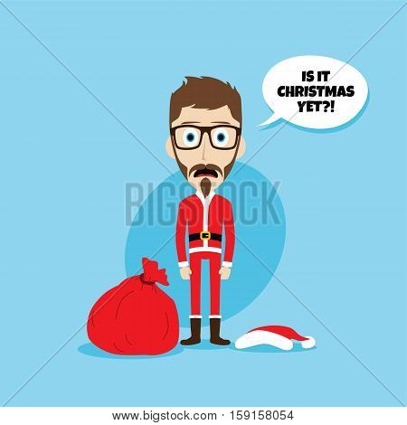 Santa Claus Costume Skinny Dad