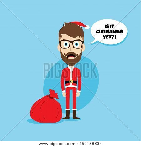 Santa Claus Christmas Skinny Dad