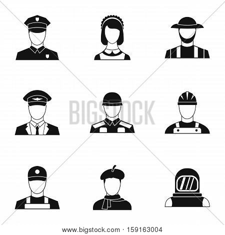 Specialty icons set. Simple illustration of 9 specialty vector icons for web