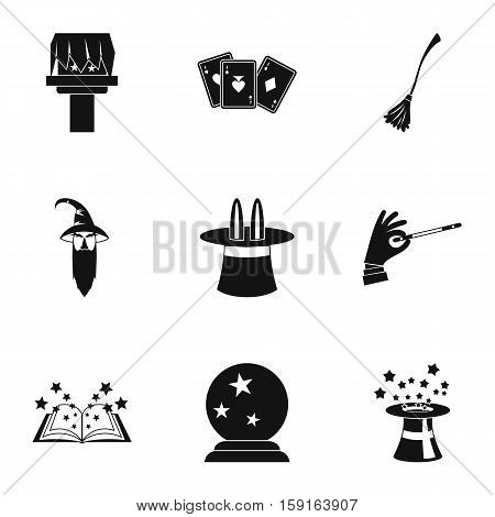 Sorcery icons set. Simple illustration of 9 sorcery vector icons for web