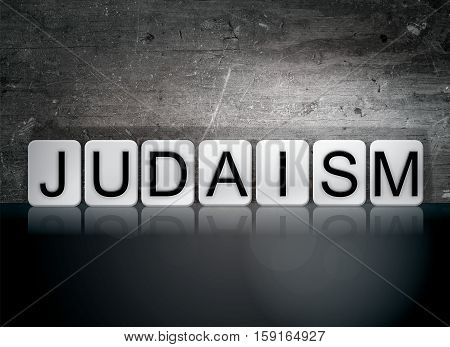 Judaism Tiled Letters Concept And Theme