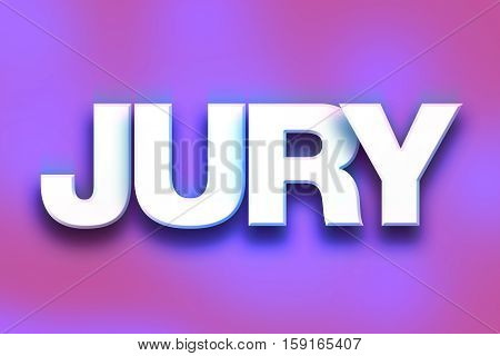 Jury Concept Colorful Word Art