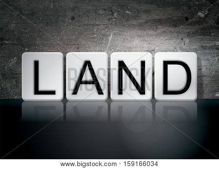 Land Tiled Letters Concept And Theme