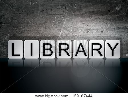 Library Tiled Letters Concept And Theme