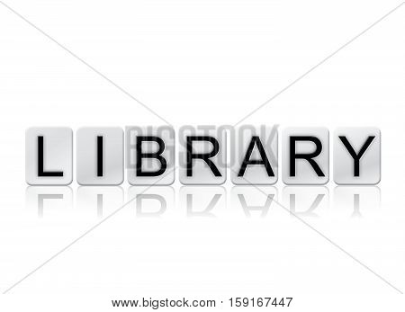 Library Isolated Tiled Letters Concept And Theme