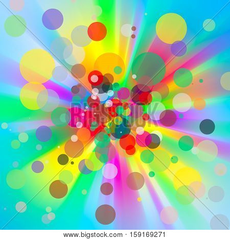 Rainbow gradient background. Colorful abstract background with rays and circles. Color Spectrum Background. can be used for wallpaper or backdrop