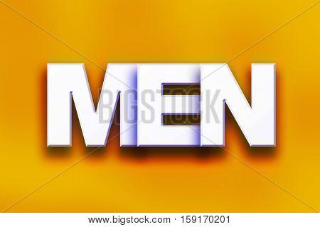 Men Concept Colorful Word Art