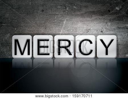 Mercy Tiled Letters Concept And Theme