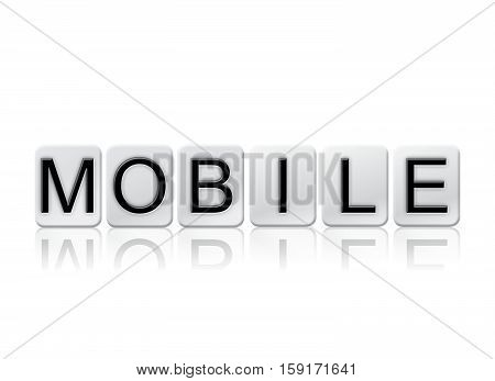 Mobile Isolated Tiled Letters Concept And Theme
