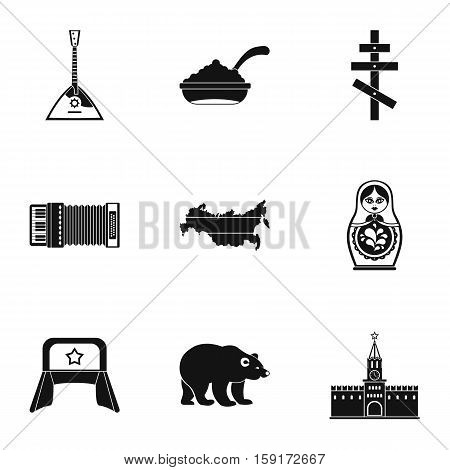Russia icons set. Simple illustration of 9 Russia vector icons for web