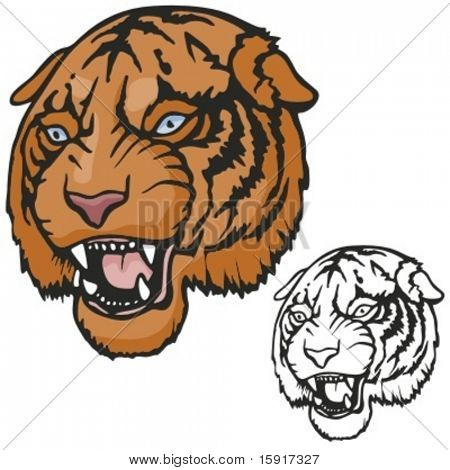 Tiger Mascot for sport teams. Great for t-shirt designs, school mascot logo and any other design work. Ready for vinyl cutting.