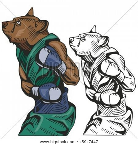 Bear Boxing Mascot for sport teams. Great for t-shirt designs, school mascot logo and any other design work. Ready for vinyl cutting.