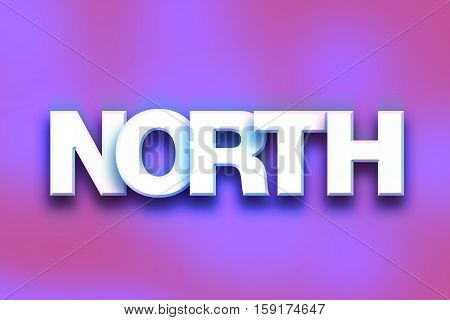 North Concept Colorful Word Art